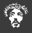 Jesus Christ face Silhouette vector image