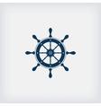 marine steering wheel icon vector image
