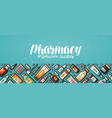 pharmacy banner medicine medical supplies vector image