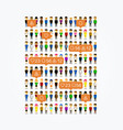 social people app like icons vector image