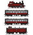 Retro steam train vector image