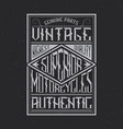 vintage motorcycles typography t-shirt graphics vector image