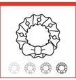 Christmas icon - wreath vector image vector image