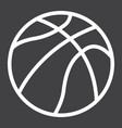 basketball ball line icon sport and game vector image