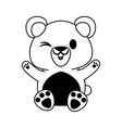 bear or cub cute animal cartoon icon image vector image