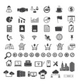 big data and business icons set vector image