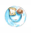 breakfast with love vector image