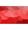 Red low poly background vector image