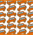 safari van pattern background vector image