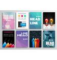 Set of Flyer Design Infographics Brochure Designs vector image