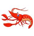 shrimp cartoon for you design vector image