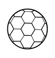 silhouette soccer ball toy icon vector image
