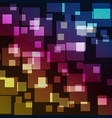 squares bokeh with colorful abstract background vector image