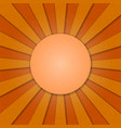 Sun and rays vintage background vector image