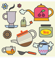 TeaTime Elements Flat vector image