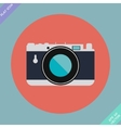 Vintage Camera Icon - vector image
