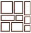 Wenge frames set vector image