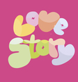 love story banner vector image