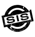 sis rubber stamp vector image