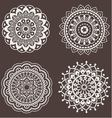 Set of lace ornaments vector image vector image