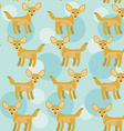 Africa Fennec Fox Seamless pattern with funny cute vector image