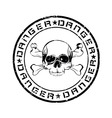 Danger stamp vector
