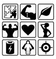 Sport nutrition icon set vector image