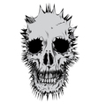 stylized skull vector image vector image