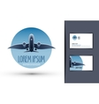 airplane logo design template journey or travel vector image