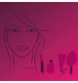 beauty face woman vector image