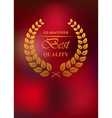 Best quality product label or emblem vector image