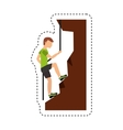 climbing extreme sport icon vector image