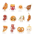 Fast food emotion vector image
