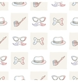 Hipster seamless pattern with ties and glasses vector image