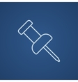 Pushpin line icon vector image