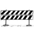 road detour closed block sign drawing vector image