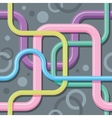 Seamless color texture - interlacing wires vector image