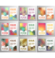 Set of abstract flyer template vector image