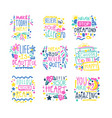 short possitive messages inspirational quotes vector image