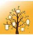 Vintage memories tree vector image