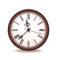 vintage wall clock vector image