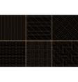 Black and golden simple geometric parquet floor vector image