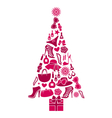 Fashion Christmas Tree vector image