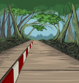 Footpath and park scene vector image
