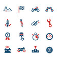 moto racing icon set vector image