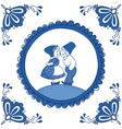 Delft blue children vector image vector image