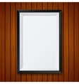 modern frame with shadow on wooden vector image