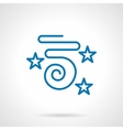 Party streamer blue simple line icon vector image