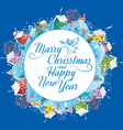 Round banner Christmas vector image vector image