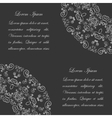 Black background with white vintage ornate pattern vector image